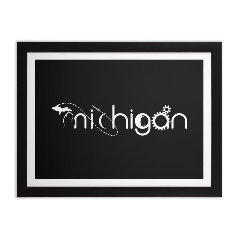 Space by State: Michigan Home Framed Fine Art Print by Photon Illustration's Artist Shop