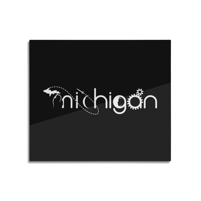 Space by State: Michigan Home Mounted Aluminum Print by Photon Illustration's Artist Shop