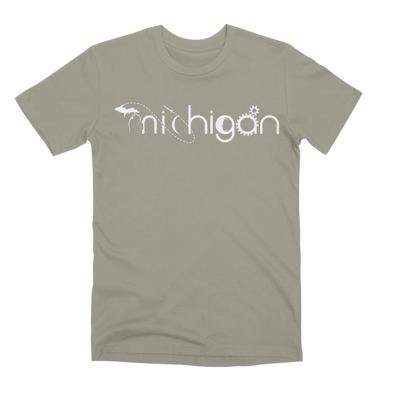 Space by State: Michigan Men's T-Shirt by Photon Illustration's Artist Shop