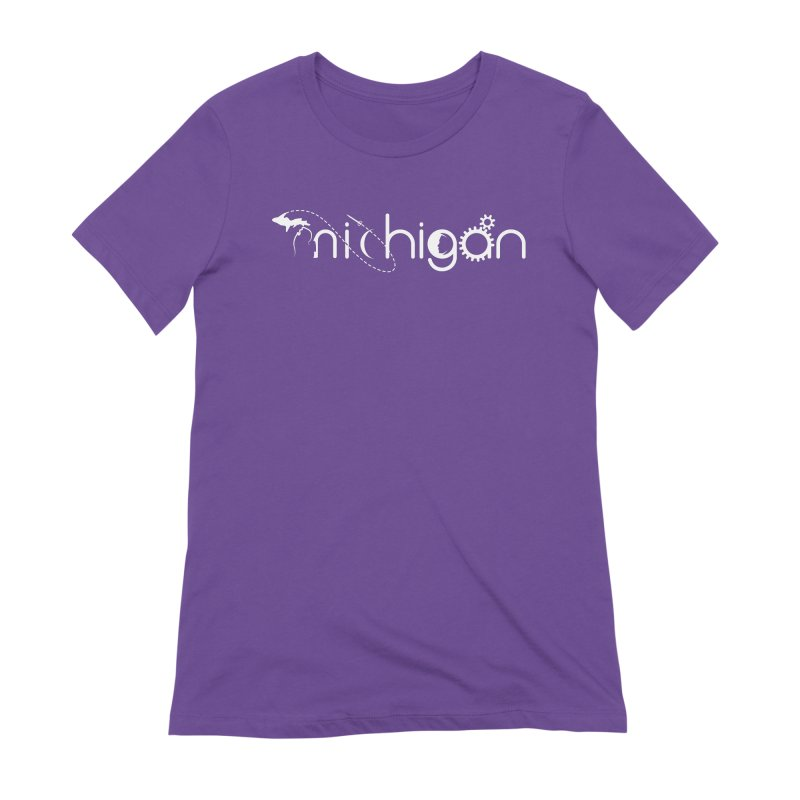 Space by State: Michigan Women's Extra Soft T-Shirt by Photon Illustration's Artist Shop