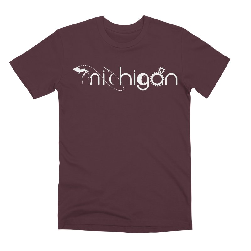 Space by State: Michigan Men's Premium T-Shirt by Photon Illustration's Artist Shop