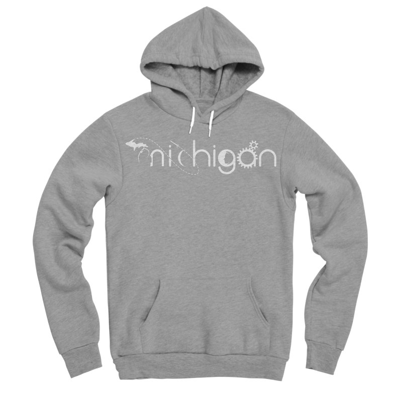 Space by State: Michigan Men's Sponge Fleece Pullover Hoody by Photon Illustration's Artist Shop