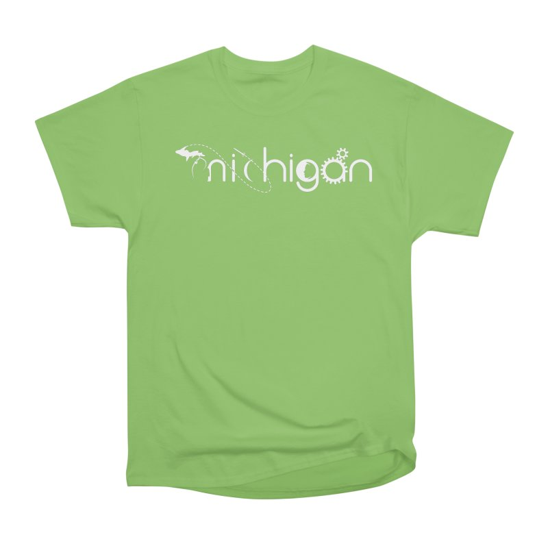Space by State: Michigan Women's Heavyweight Unisex T-Shirt by Photon Illustration's Artist Shop