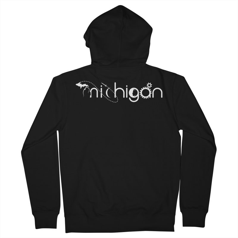 Space by State: Michigan Women's French Terry Zip-Up Hoody by Photon Illustration's Artist Shop