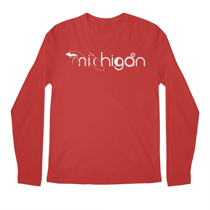 Space by State: Michigan Men's Regular Longsleeve T-Shirt by Photon Illustration's Artist Shop