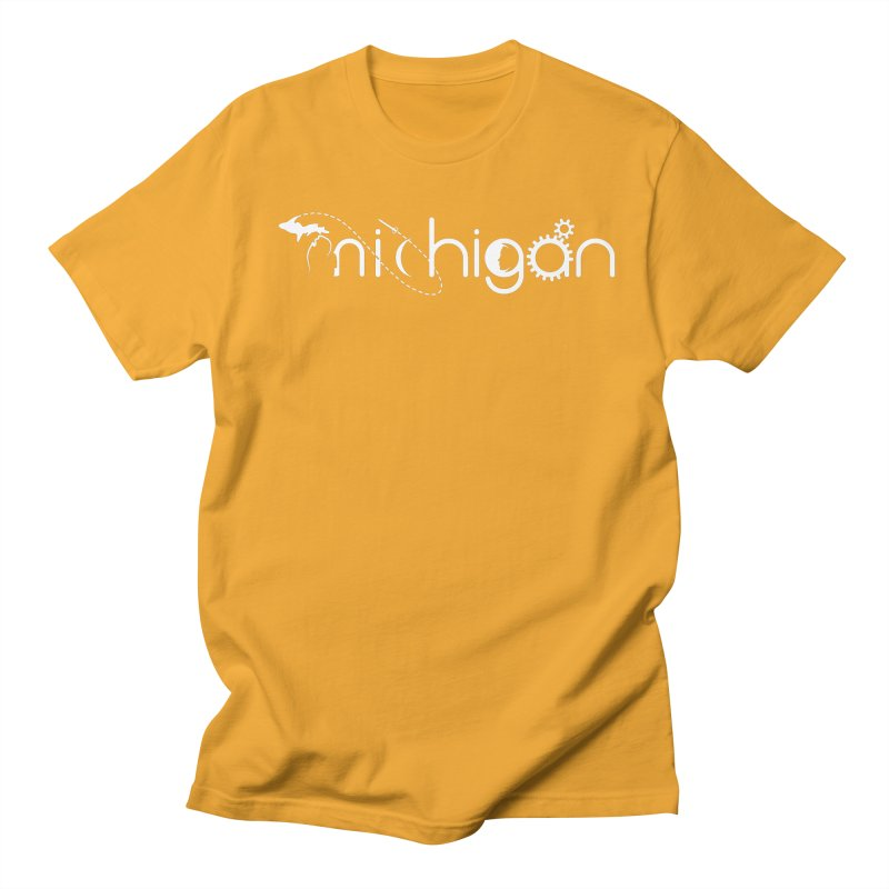 Space by State: Michigan Men's Regular T-Shirt by Photon Illustration's Artist Shop