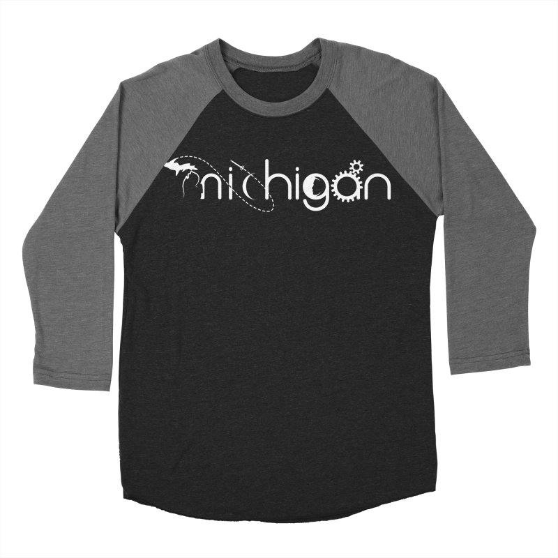 Space by State: Michigan Men's Baseball Triblend Longsleeve T-Shirt by Photon Illustration's Artist Shop