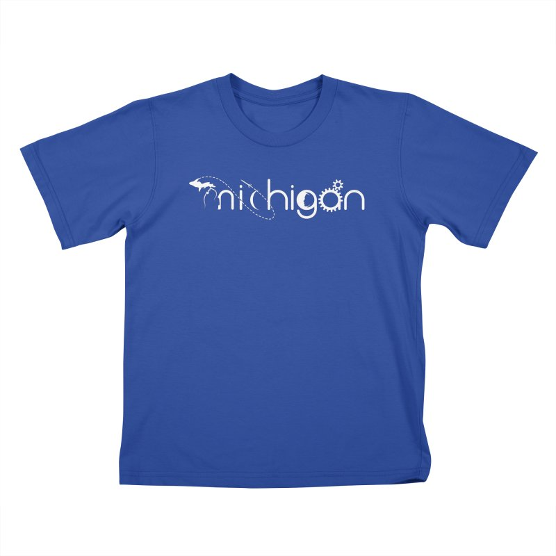 Space by State: Michigan Kids T-Shirt by Photon Illustration's Artist Shop