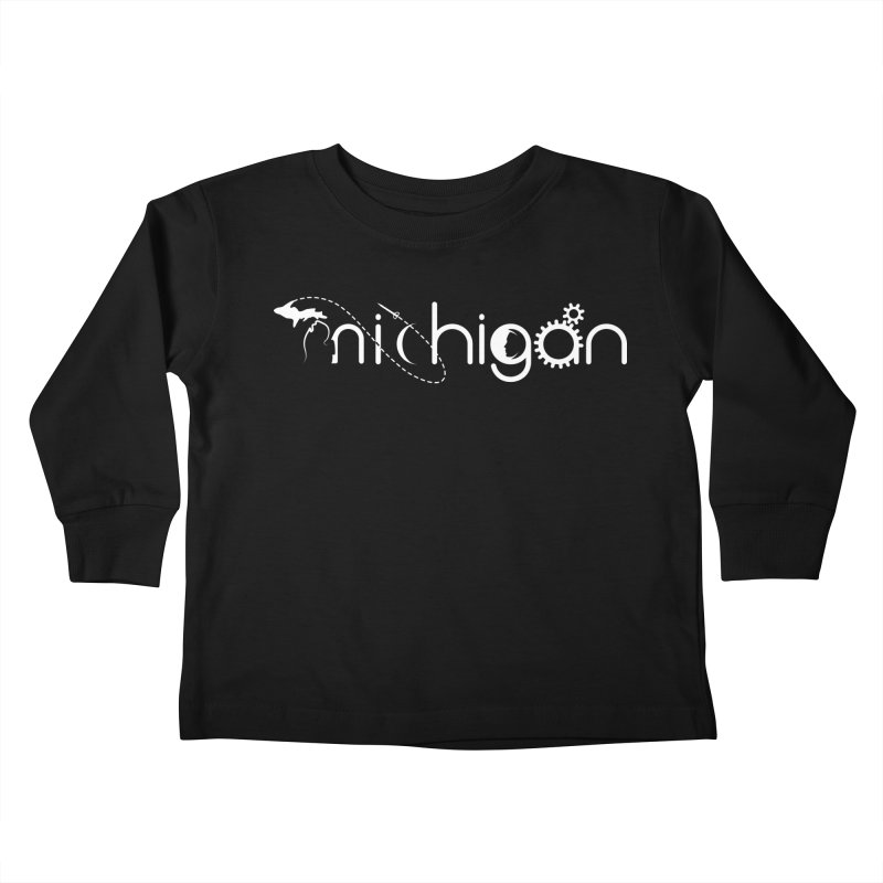 Space by State: Michigan Kids Toddler Longsleeve T-Shirt by Photon Illustration's Artist Shop