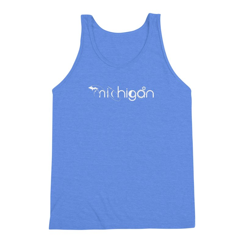 Space by State: Michigan Men's Triblend Tank by Photon Illustration's Artist Shop