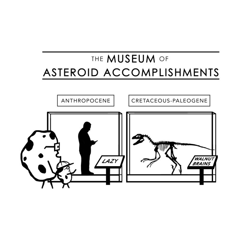 Asteroid Museum Men's T-Shirt by Photon Illustration's Artist Shop