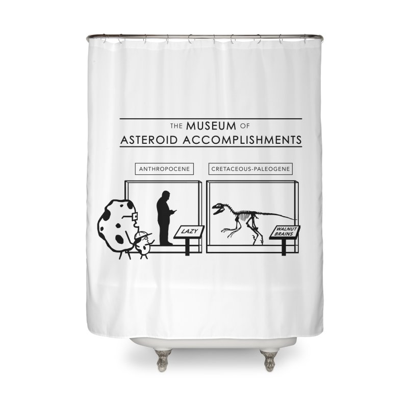 Asteroid Museum Home Shower Curtain by Photon Illustration's Artist Shop