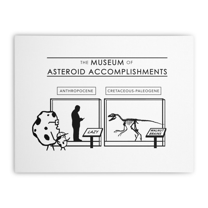 Asteroid Museum Home Stretched Canvas by Photon Illustration's Artist Shop