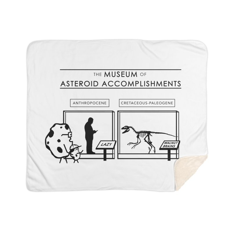 Asteroid Museum Home Sherpa Blanket Blanket by Photon Illustration's Artist Shop