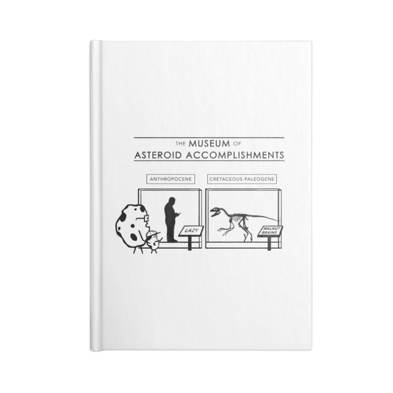 Asteroid Museum Accessories Blank Journal Notebook by Photon Illustration's Artist Shop