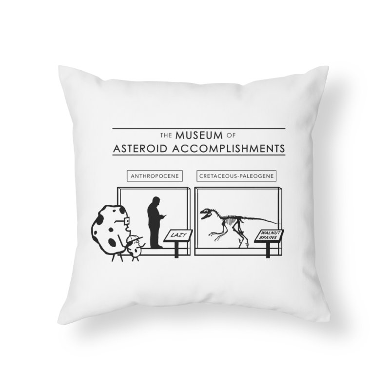 Asteroid Museum Home Throw Pillow by Photon Illustration's Artist Shop