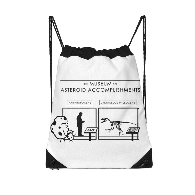 Asteroid Museum Accessories Drawstring Bag Bag by Photon Illustration's Artist Shop