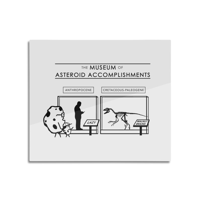 Asteroid Museum Home Mounted Aluminum Print by Photon Illustration's Artist Shop