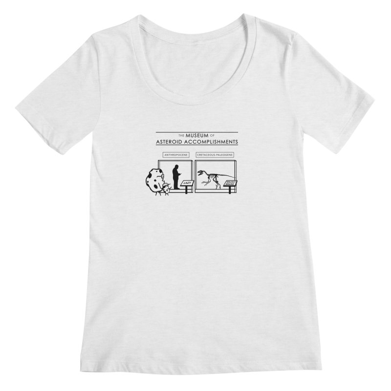 Asteroid Museum Women's Scoop Neck by Photon Illustration's Artist Shop