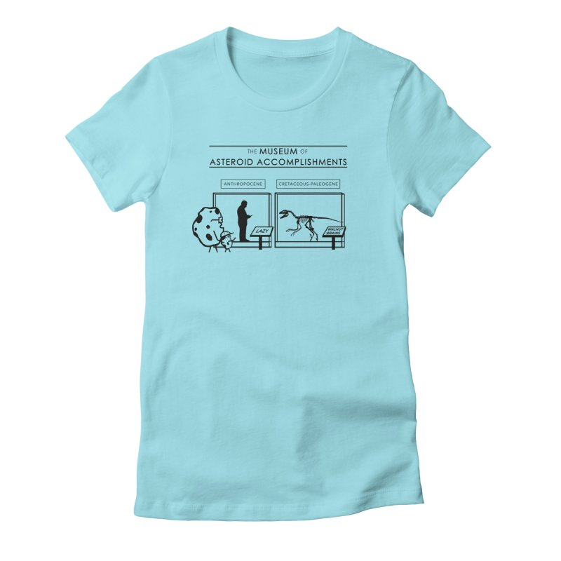 Asteroid Museum Women's Fitted T-Shirt by Photon Illustration's Artist Shop