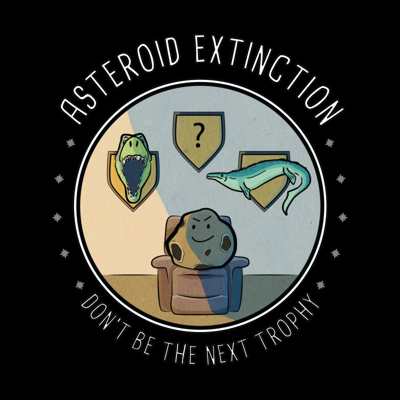Asteroid Trophy Home Mounted Aluminum Print by Photon Illustration's Artist Shop