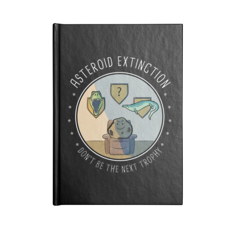 Asteroid Trophy Accessories Blank Journal Notebook by Photon Illustration's Artist Shop