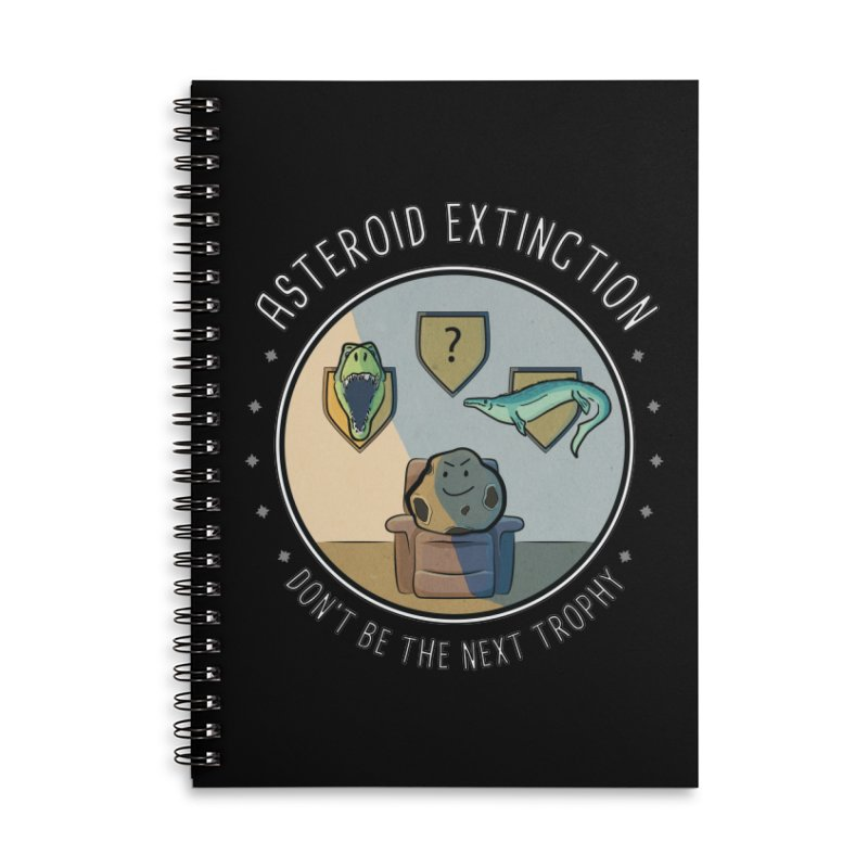 Asteroid Trophy Accessories Lined Spiral Notebook by Photon Illustration's Artist Shop