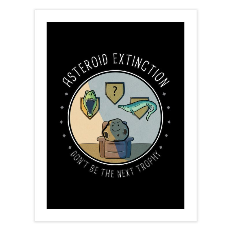 Asteroid Trophy Home Fine Art Print by Photon Illustration's Artist Shop