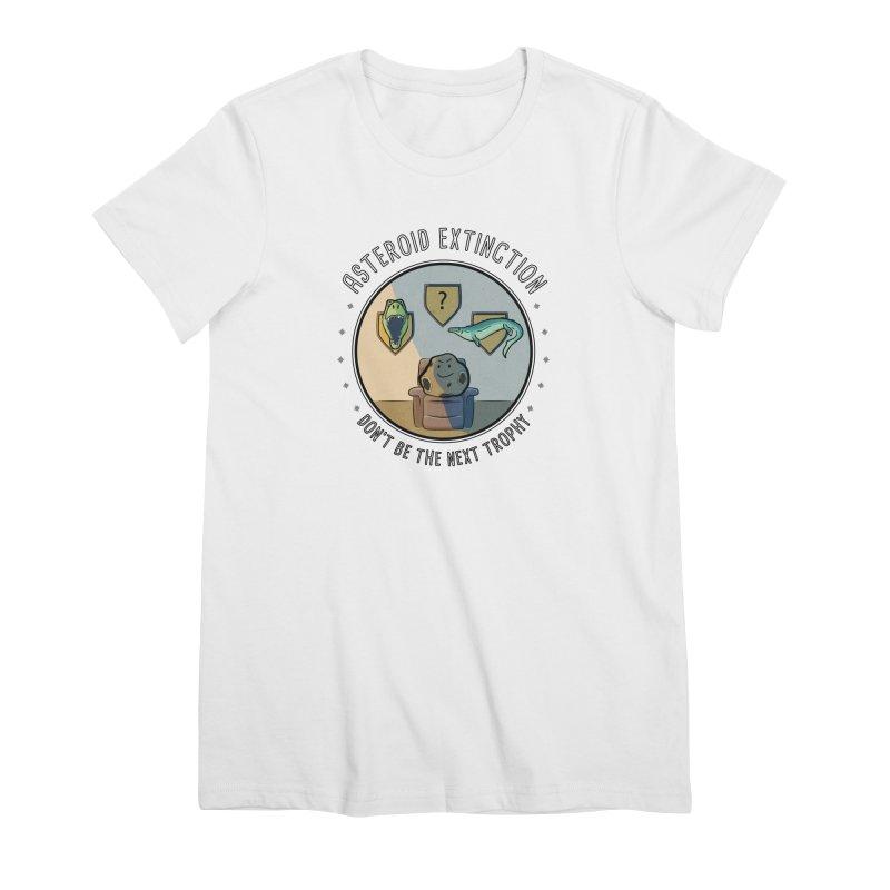 Asteroid Trophy Women's Premium T-Shirt by Photon Illustration's Artist Shop