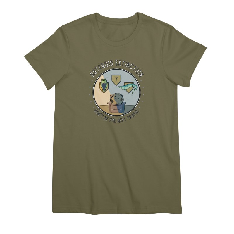 Asteroid Trophy Women's Premium T-Shirt by Photon Illustration's Artist Shop