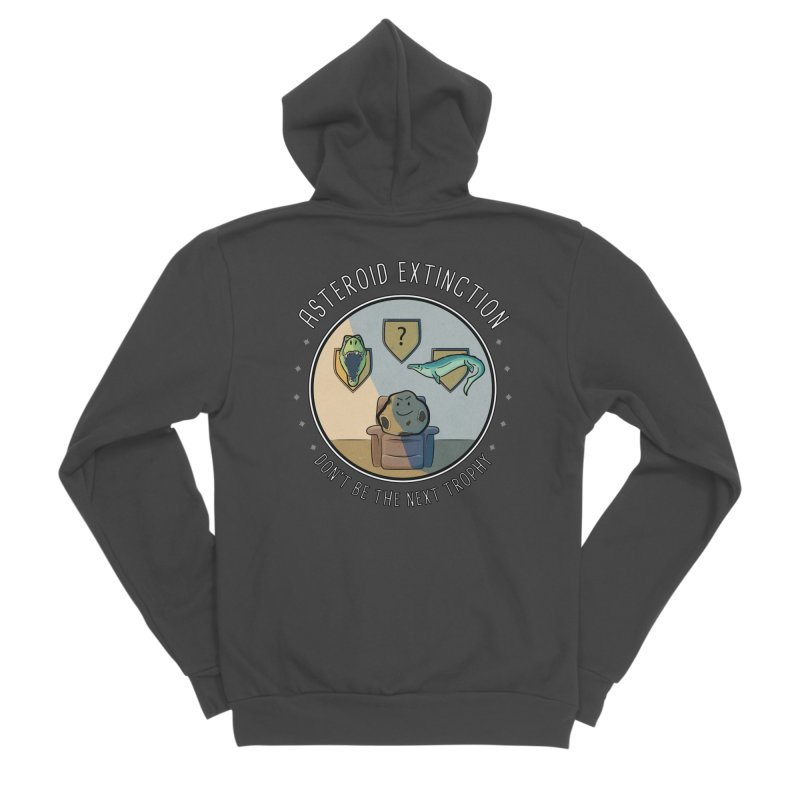 Asteroid Trophy Women's Sponge Fleece Zip-Up Hoody by Photon Illustration's Artist Shop
