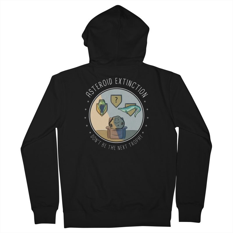 Asteroid Trophy Women's French Terry Zip-Up Hoody by Photon Illustration's Artist Shop