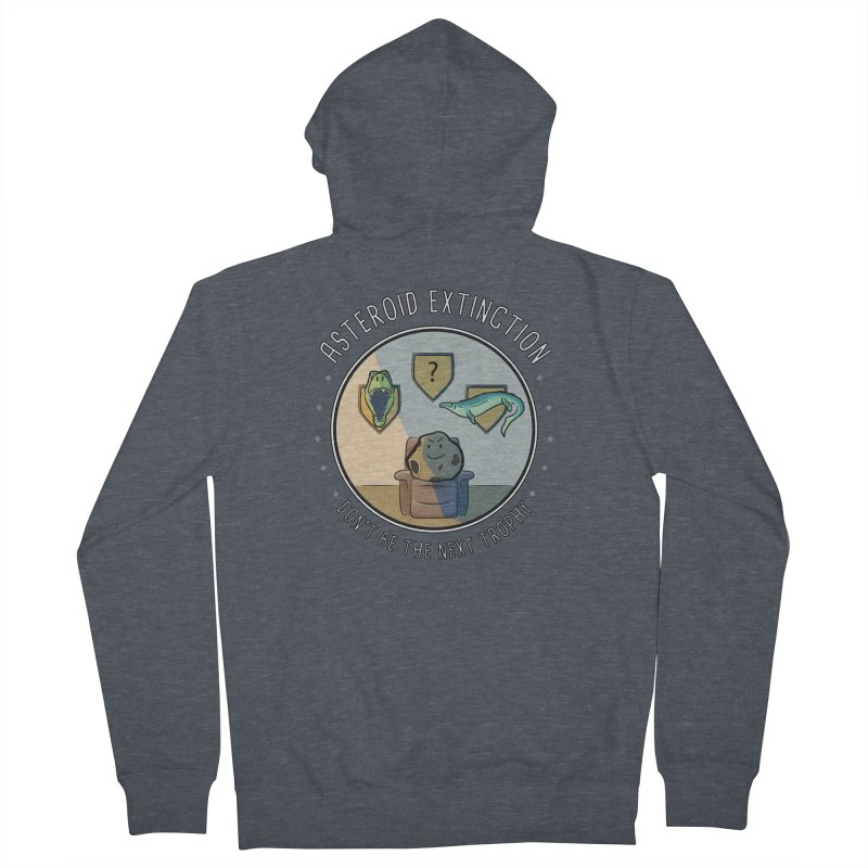 Asteroid Trophy Men's French Terry Zip-Up Hoody by Photon Illustration's Artist Shop