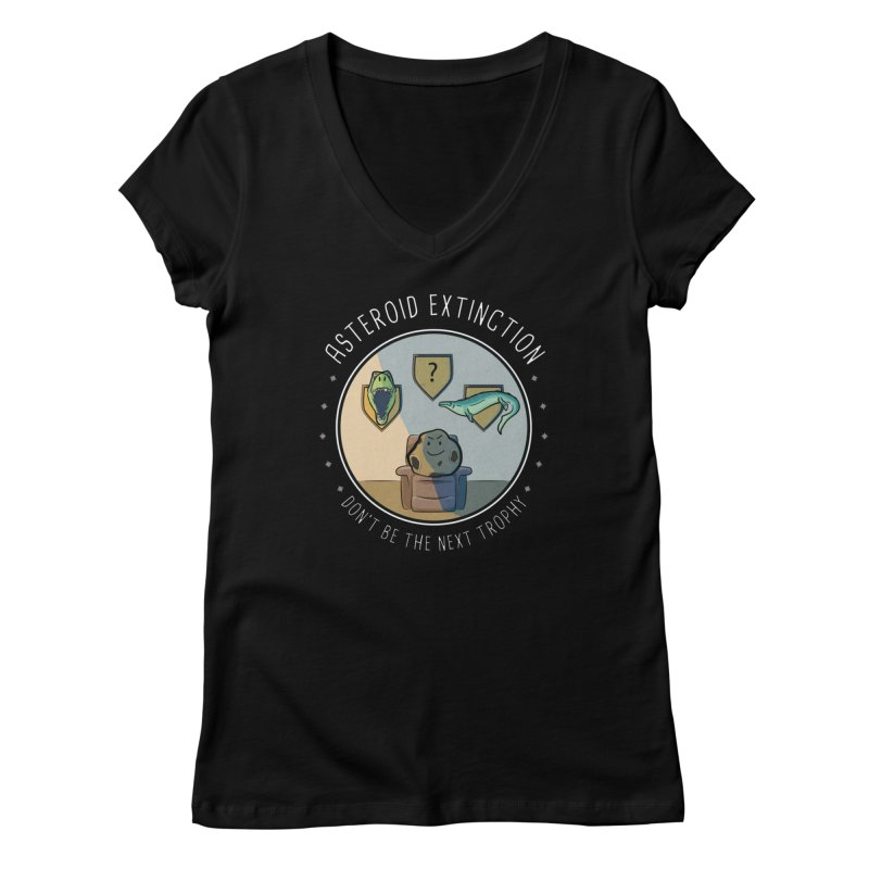 Asteroid Trophy Women's V-Neck by Photon Illustration's Artist Shop