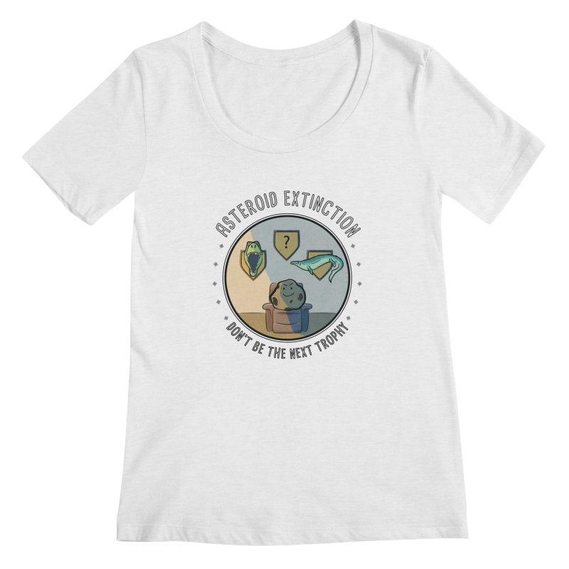 Asteroid Trophy Women's Regular Scoop Neck by Photon Illustration's Artist Shop