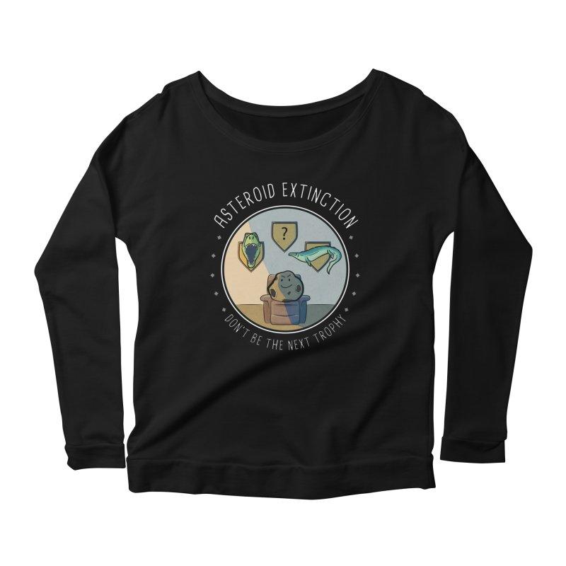 Asteroid Trophy Women's Scoop Neck Longsleeve T-Shirt by Photon Illustration's Artist Shop