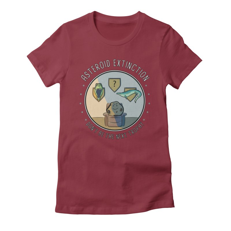 Asteroid Trophy Women's Fitted T-Shirt by Photon Illustration's Artist Shop