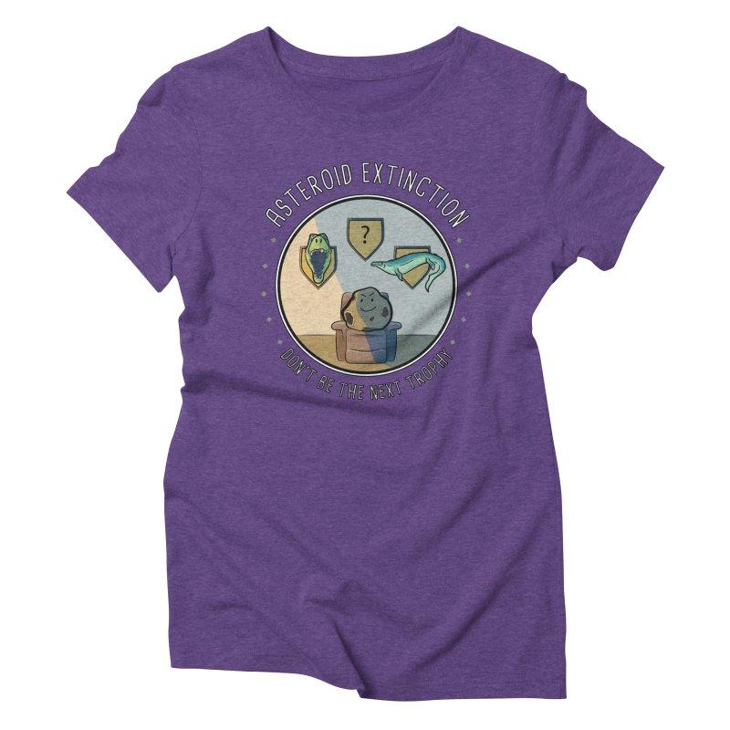 Asteroid Trophy Women's Triblend T-Shirt by Photon Illustration's Artist Shop