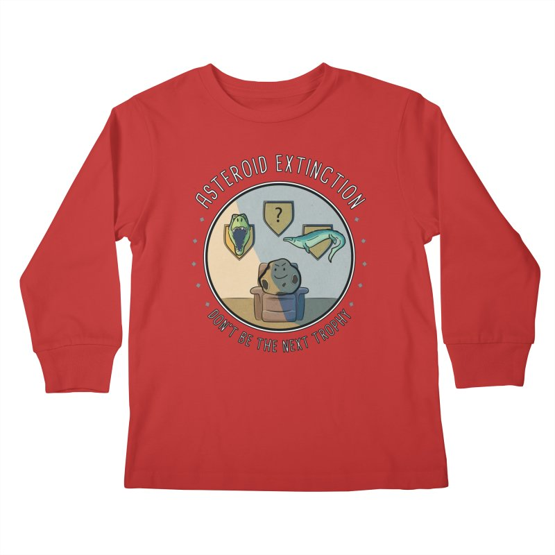 Asteroid Trophy Kids Longsleeve T-Shirt by Photon Illustration's Artist Shop
