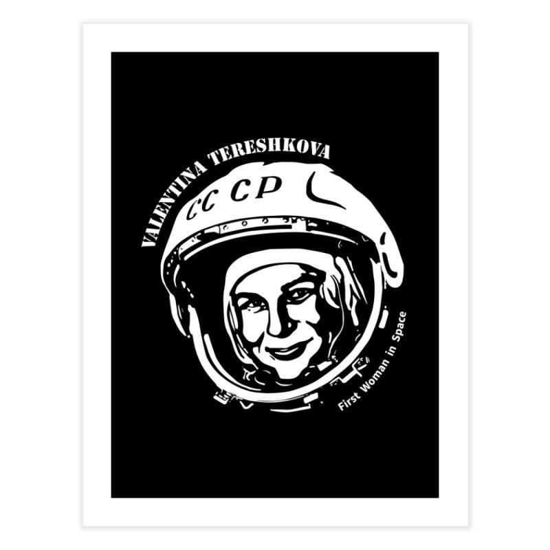 Women in Space: Valentina Tereshkova Home Fine Art Print by Photon Illustration's Artist Shop