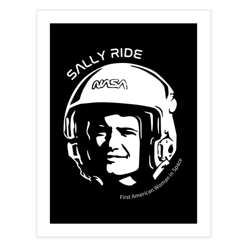 Women in Space: Sally Ride Home Fine Art Print by Photon Illustration's Artist Shop
