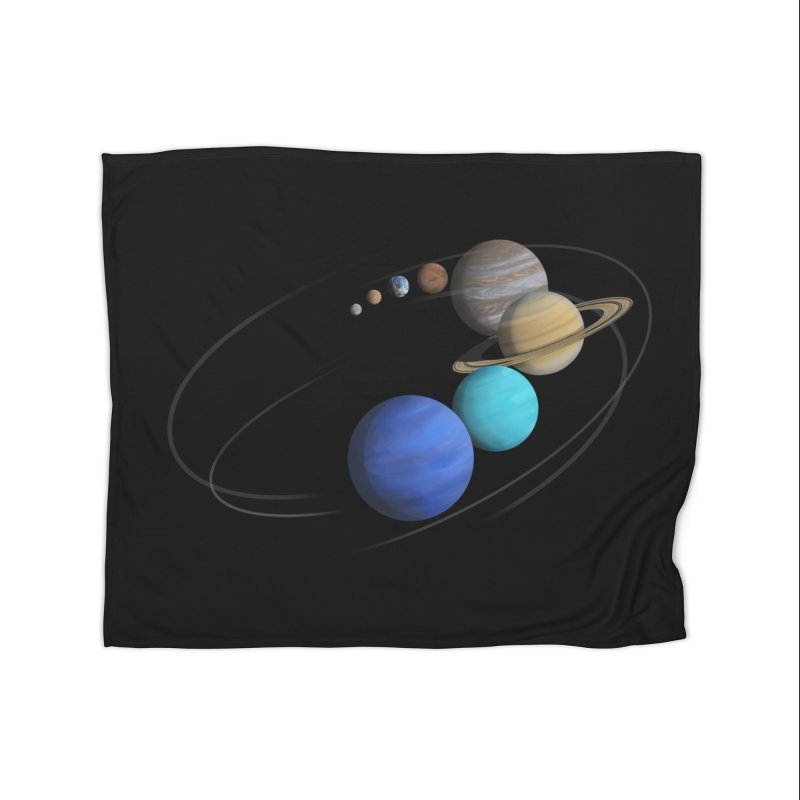 Solar System Classic Home Blanket by Photon Illustration's Artist Shop