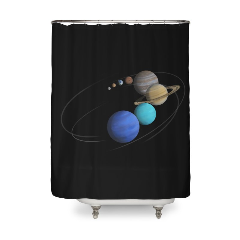 Solar System Classic Home Shower Curtain by Photon Illustration's Artist Shop