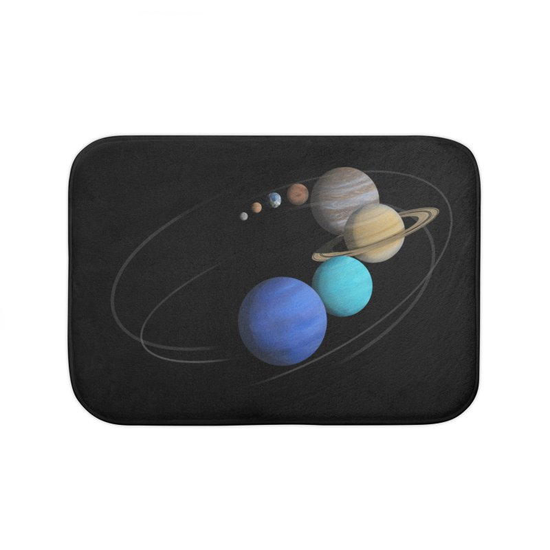 Solar System Classic Home Bath Mat by Photon Illustration's Artist Shop