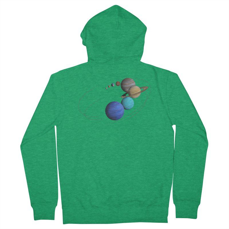 Solar System Classic Men's French Terry Zip-Up Hoody by Photon Illustration's Artist Shop