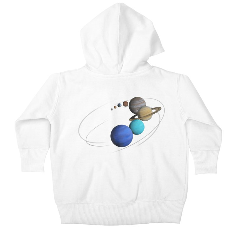 Solar System Classic Kids Baby Zip-Up Hoody by Photon Illustration's Artist Shop