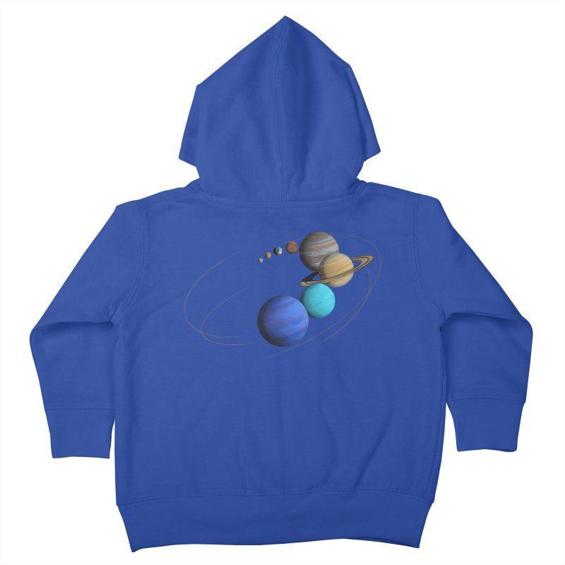 Solar System Classic Kids Toddler Zip-Up Hoody by Photon Illustration's Artist Shop
