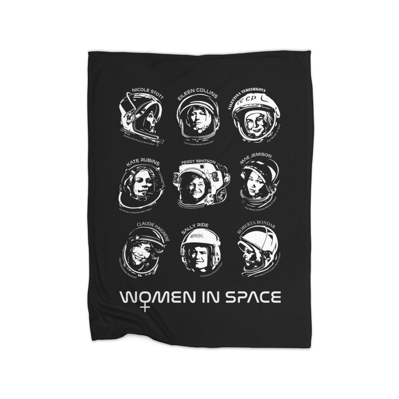 Women in Space combo Home Blanket by Photon Illustration's Artist Shop
