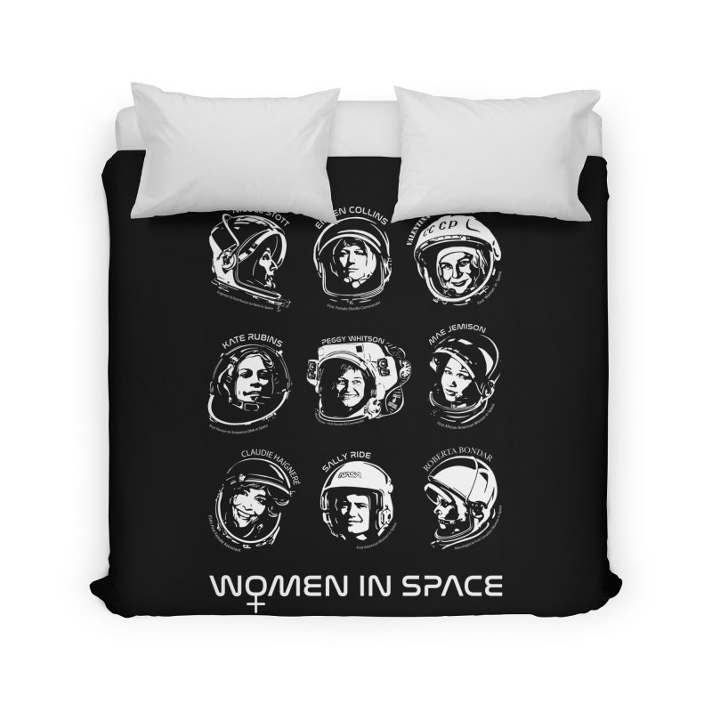 Women in Space combo Home Duvet by Photon Illustration's Artist Shop