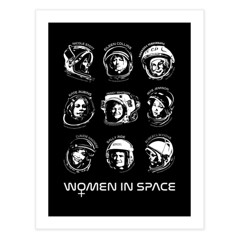 Women in Space combo Home Fine Art Print by Photon Illustration's Artist Shop